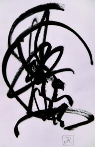 """""""Ecriture"""", toile de J.Handzisch"""